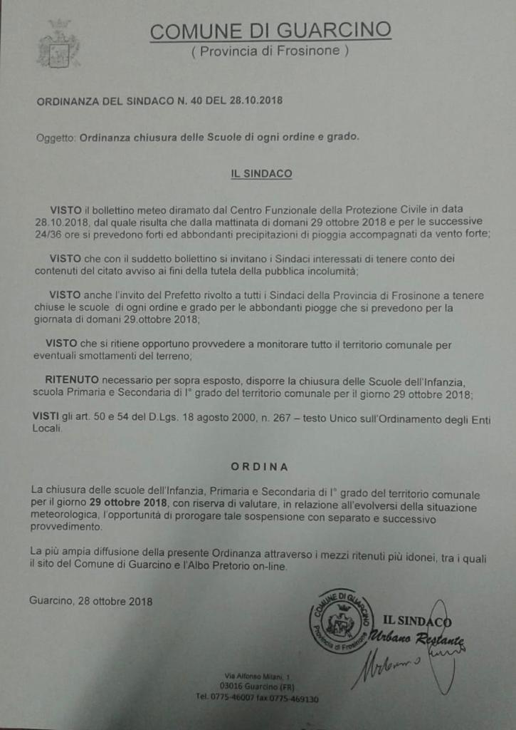 ordinanza28102018